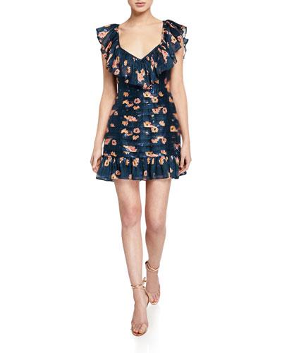 Chain Of Fire Mini Dress