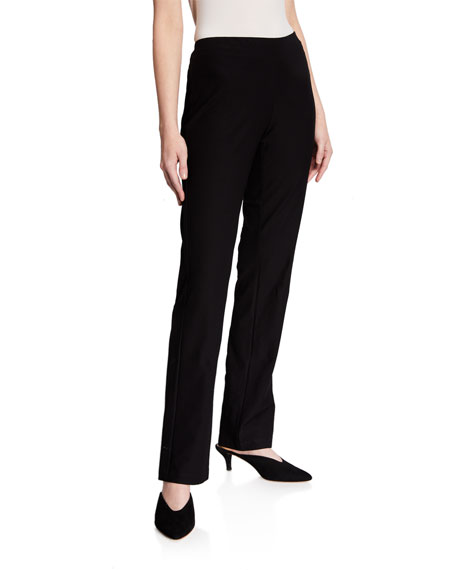 Eileen Fisher Petite Washable-Crepe Boot-Cut Pants