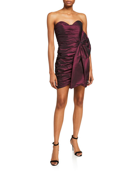 Jovani Sweetheart Bustier Ruched Mini Dress