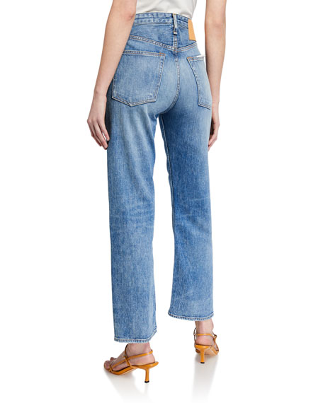 Image 2 of 3: Rag & Bone Maya High-Rise Ankle Straight Jeans