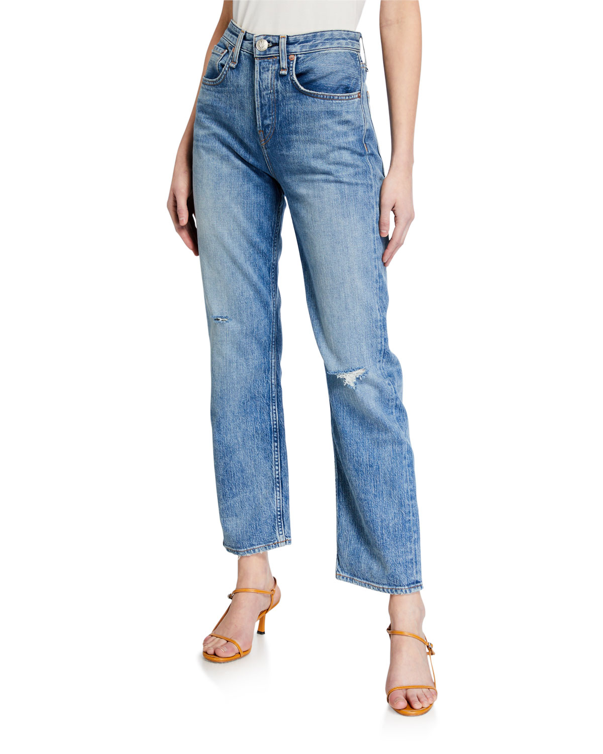 Rag & Bone Maya High-Rise Ankle Straight Jeans