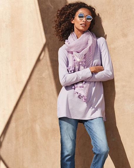 Eileen Fisher Organic Cotton High-Waist Straight-Leg Cropped Jeans