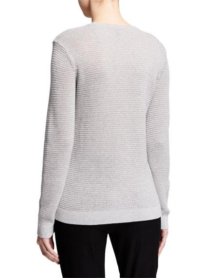 Eileen Fisher Merino Wool Sparkle Crewneck Sweater