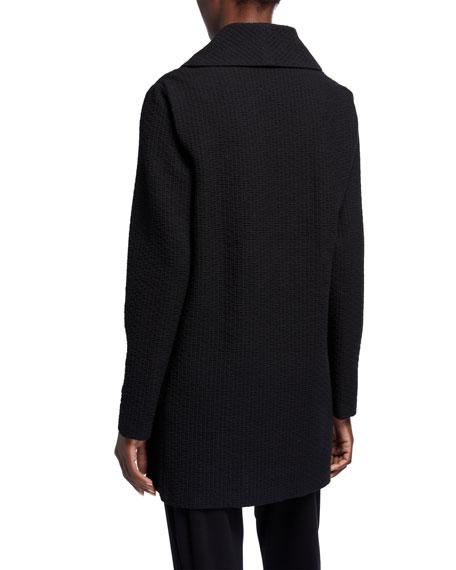 Eileen Fisher Petite Basket Weave Shawl-Collar Jacket