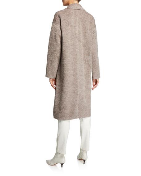 Eileen Fisher Sheared Suri Alpaca Notch-Collar Coat