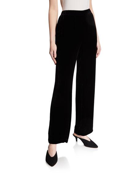 Eileen Fisher Petite Velvet Straight-Leg Pants