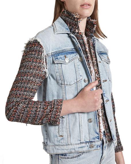 Current/Elliott The Charmer Tweed Combo Jacket