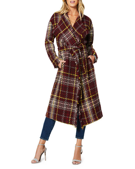 Ramy Brook Bryan Plaid Sweater Jacket