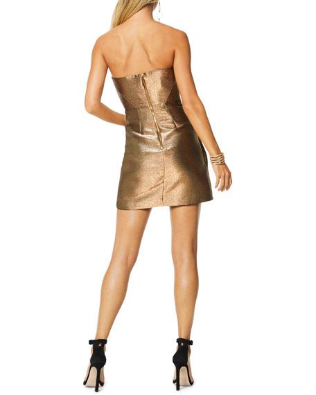 Ramy Brook Avril Strapless Metallic Cocktail Dress