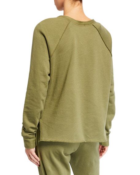 Terez Cotton Fleece Raglan Sleeve Pullover