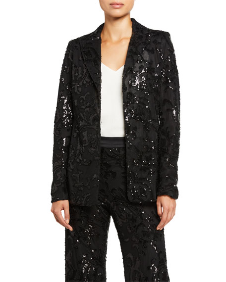 Image 1 of 3: Alexis Firdas Sequined Single-Button Jacket