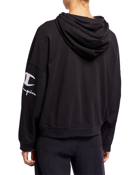 Image 2 of 2: Champion Europe Reverse Weave Hooded Logo Pullover Sweatshirt
