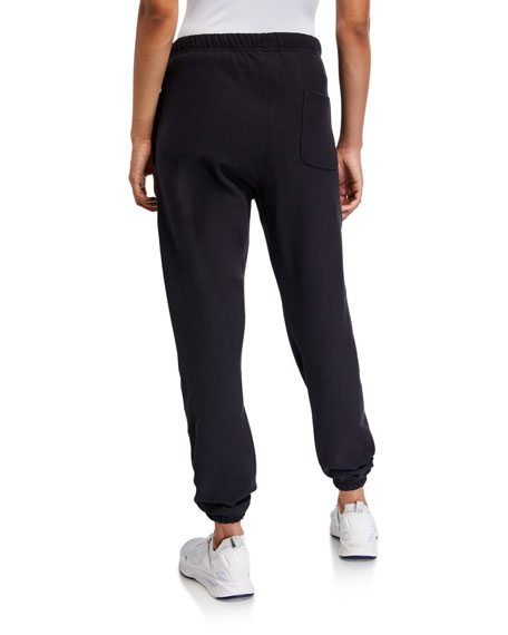 Champion Europe Reverse Weave Logo Sweatpants with Elastic Cuffs