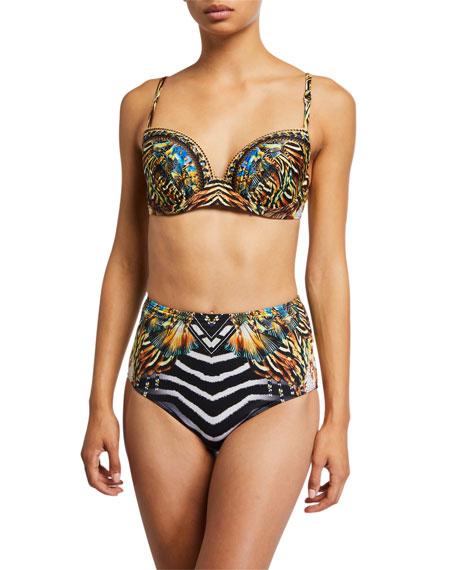 Camilla Molded Plunge Bra Bikini Top