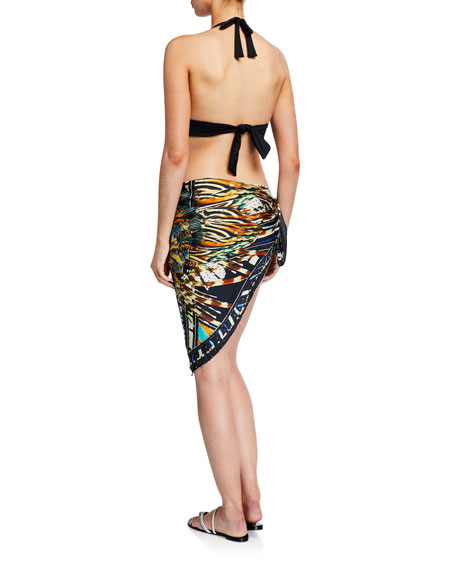 Camilla Printed Square Scarf Sarong Coverup