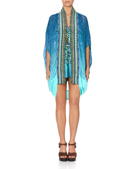 Camilla Open-Front Embellished Coverup
