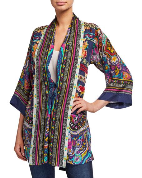Johnny Was Hanna Printed Tie-Front Kimono