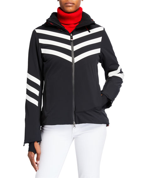 Image 2 of 3: Perfect Moment Chevron Stripes Track Jacket