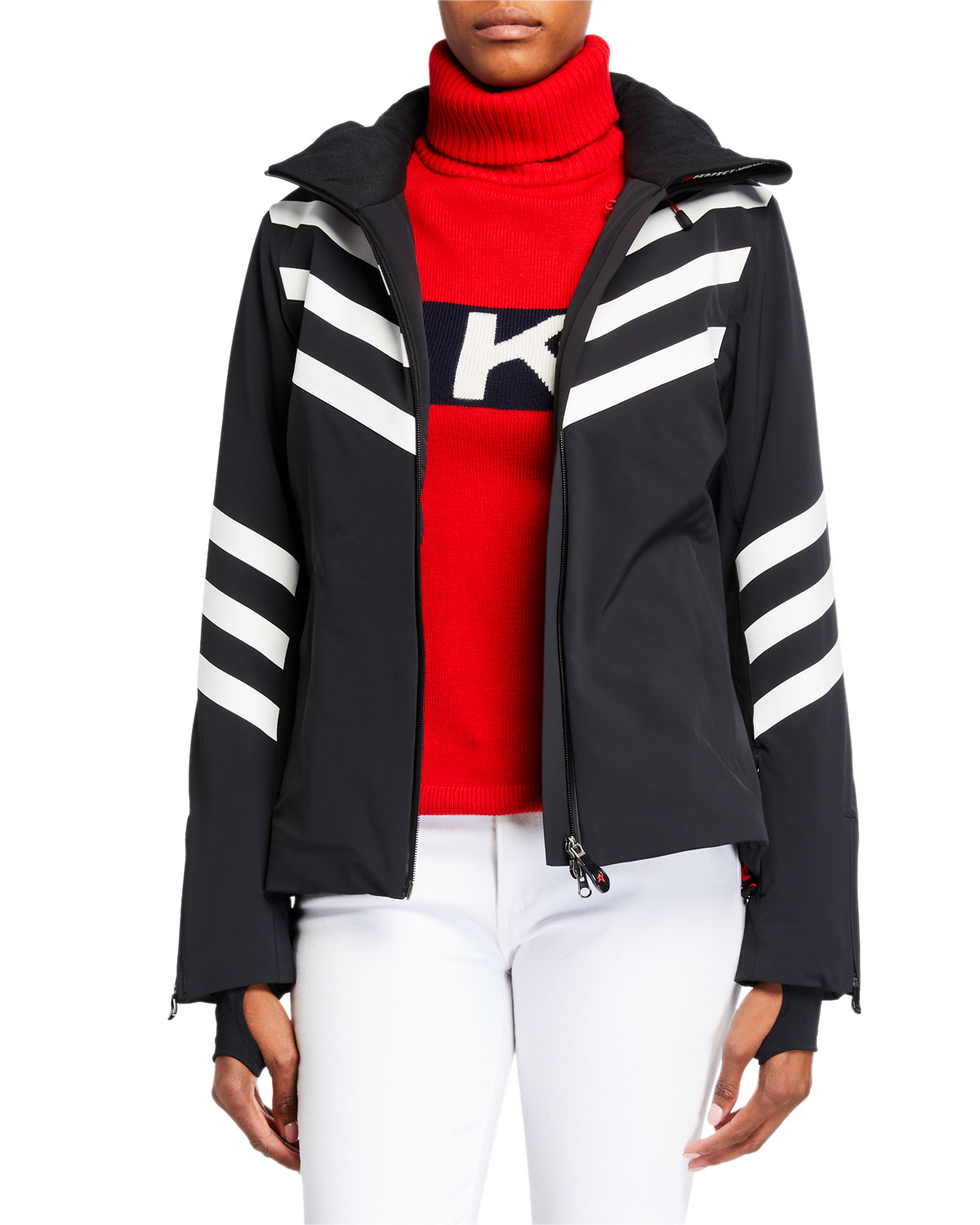 Perfect Moment Chevron Stripes Track Jacket