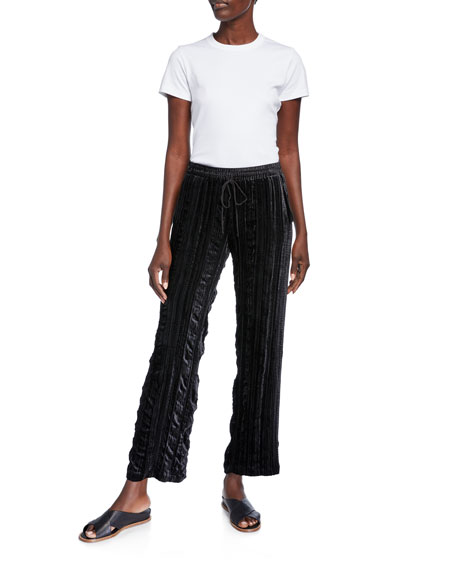 Johnny Was Art Easy Velvet Drawstring Pants