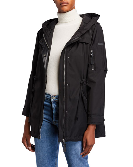 Derek Lam 10 Crosby Parka Anorak Coat with Detachable Fox Fur