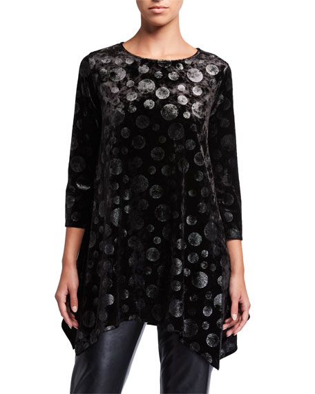 Caroline Rose Lunar Velvet Dot Swing Tunic