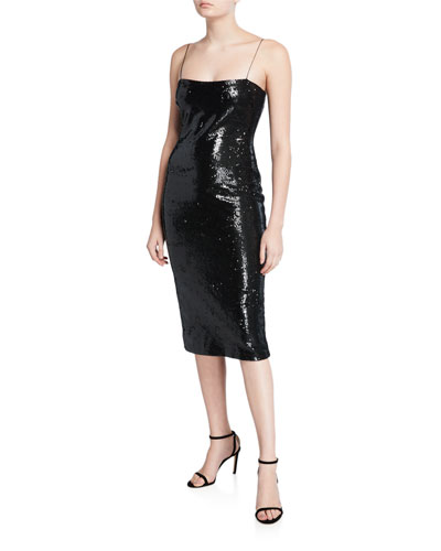 Reese Sequined Midi Dress