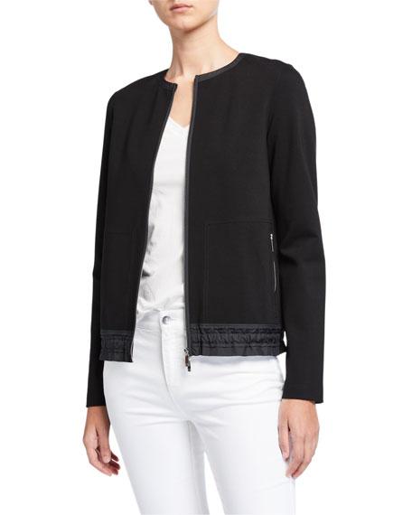 Lafayette 148 New York Harris Punto Milano Zip Front Jacket