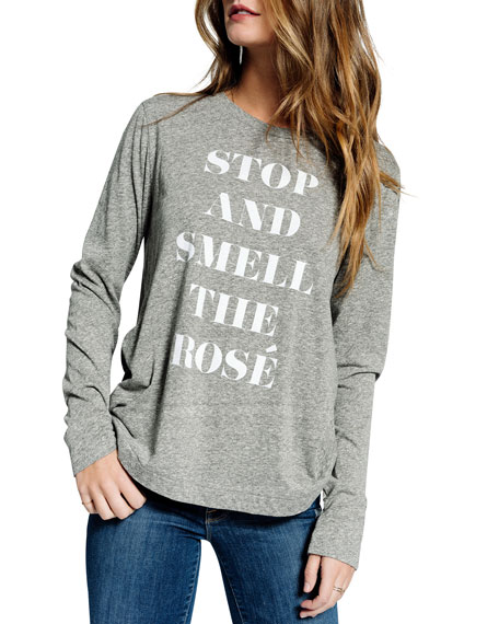 Sol Angeles Stop And Smell The Rose Long-Sleeve Heathered T-Shirt
