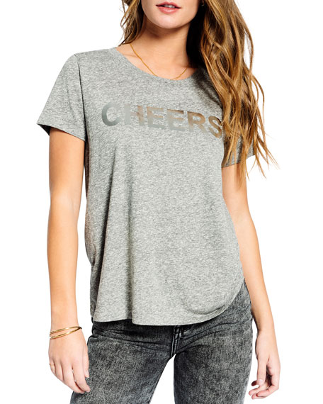 Sol Angeles Cheers Crewneck Short-Sleeve Heathered Tee