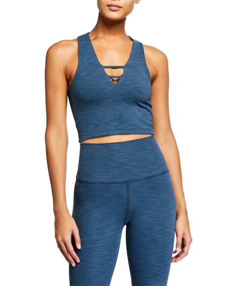 Image 1 of 2: Heathered Rib Cropped Active Tank