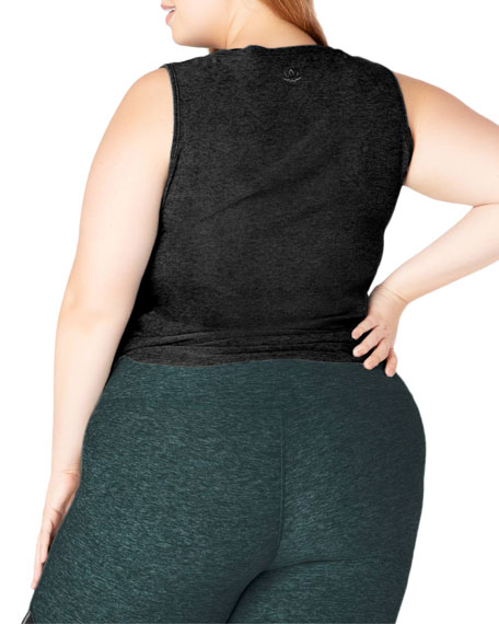 Beyond Yoga Plus Size All For Ties Knotted Muscle Tank