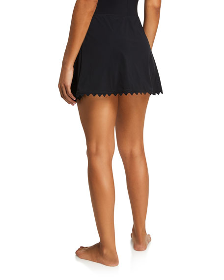 Karla Colletto Ines A-Line Swim Skirt with Trim