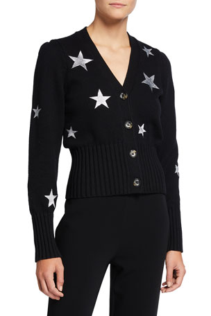 cinq a sept Morgan Star-Print Cardigan