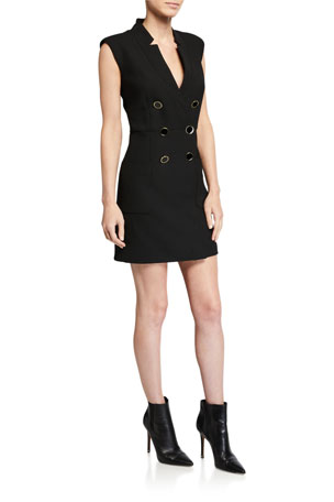 Veronica Beard Doreen Sleeveless Blazer Dress