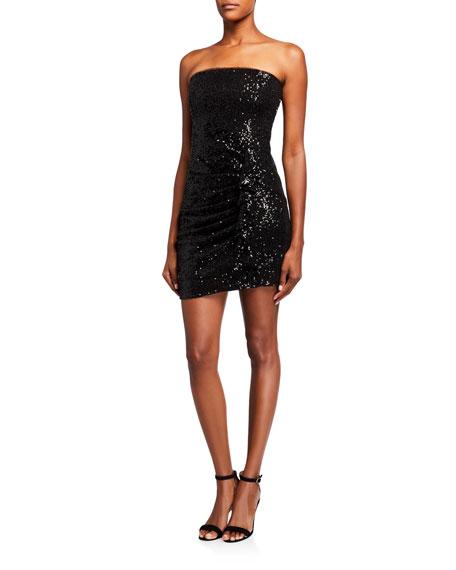 Parker Black Aurelia Sequin Bustier Mini Dress