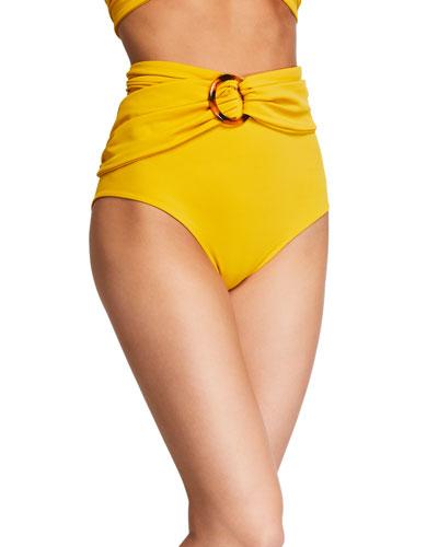 Une Coquillage High-Waist Bikini Bottom