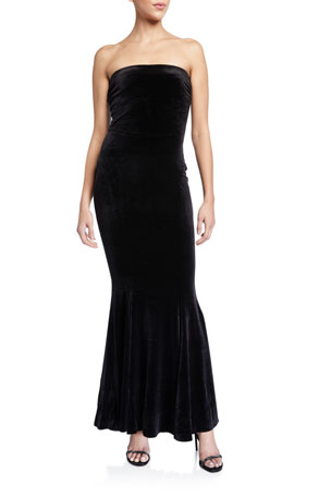 Norma Kamali Strapless Fishtail Gown