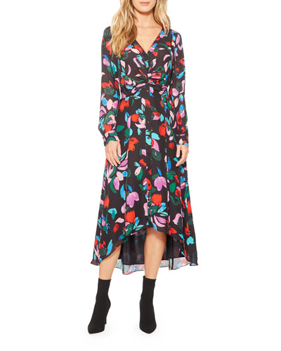 Cora Floral Button-Front Midi Dress