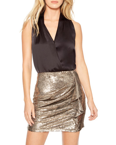 Kenny Sequined Ruffle Skirt