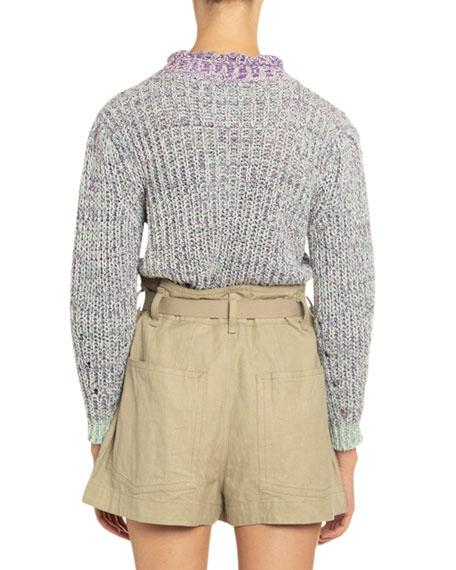 Image 2 of 4: Etoile Isabel Marant Lotiya Cotton Turtleneck Sweater