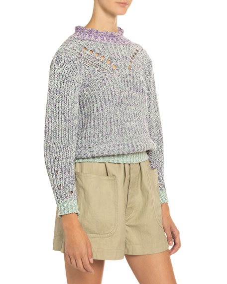 Image 3 of 4: Etoile Isabel Marant Lotiya Cotton Turtleneck Sweater
