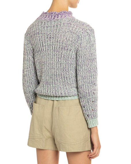 Image 4 of 4: Etoile Isabel Marant Lotiya Cotton Turtleneck Sweater