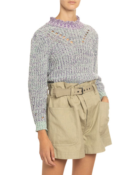 Image 1 of 4: Etoile Isabel Marant Lotiya Cotton Turtleneck Sweater