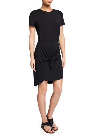 Veronica Beard Bernice Tie-Front Coverup Dress