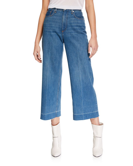 Rag & Bone Ruth Super High-Rise Cropped Wide-Leg Jeans