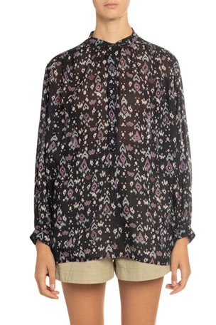 Etoile Isabel Marant Fidaje Printed Button-Front Top