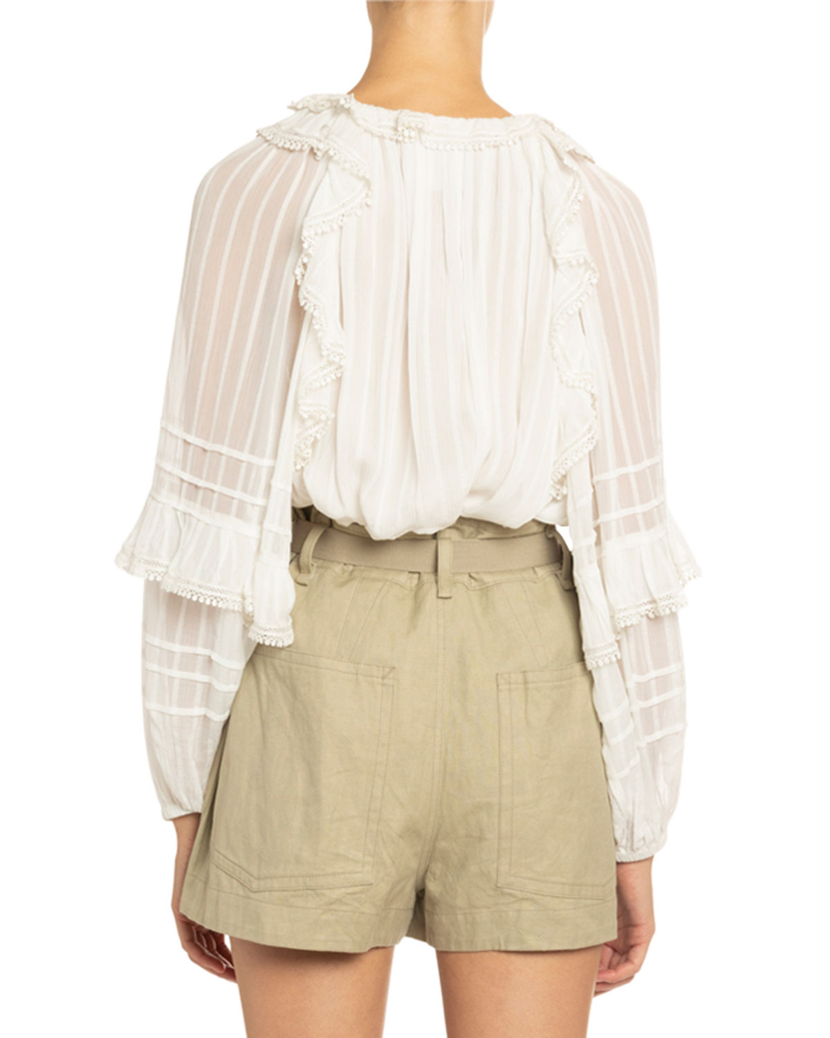 Jayden Seamed Voile Blouse by Etoile Isabel Marant
