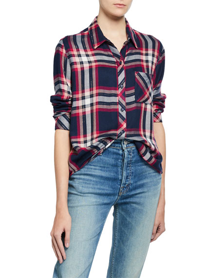 Rails T-shirts HUNTER PLAID BUTTON-DOWN SHIRT