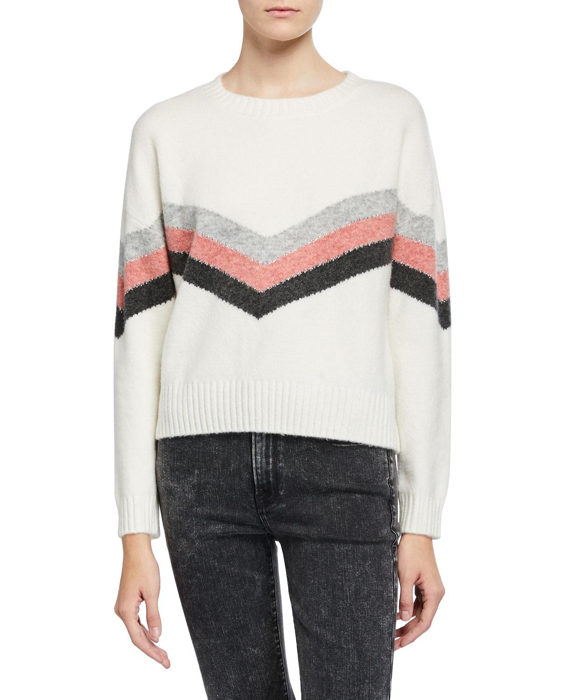 Aura Chevron Wool Sweater by Rails
